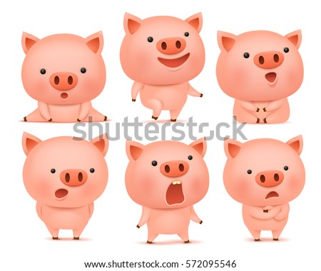 collection of funny pig