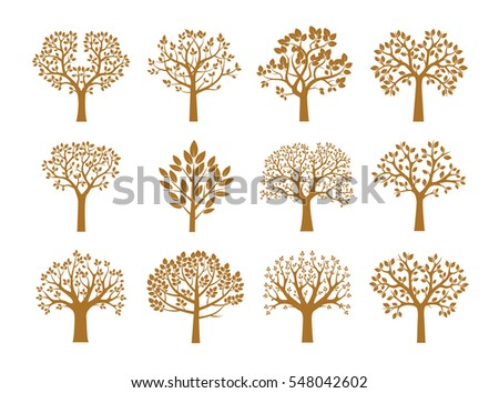 collection of golden trees