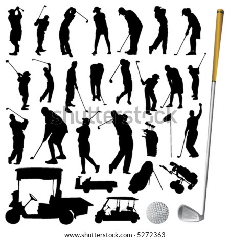 golf ball vector. collection of golf vector