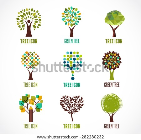 collection of green tree