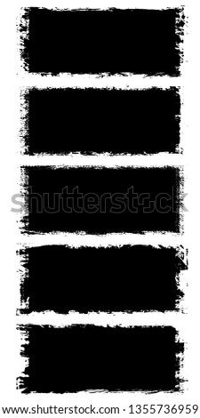 Collection of grunge black backgrounds. The pattern text and design, icons, labels, badges #1355736959