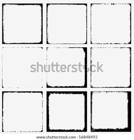 Collection of grunge borders Vector.