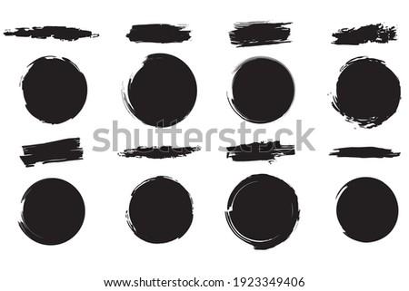 Collection of grunge brushes. Vector illustration, set design element.