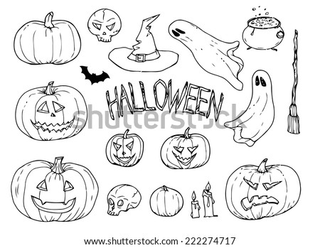 collection of halloween hand