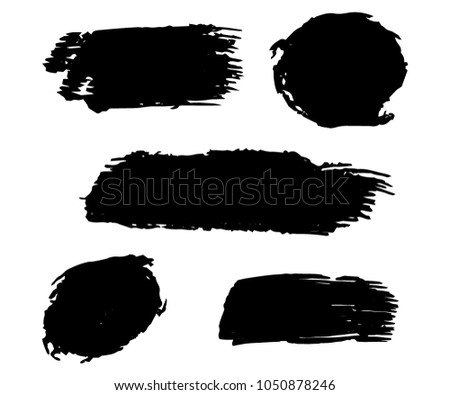 collection of hand drawn black