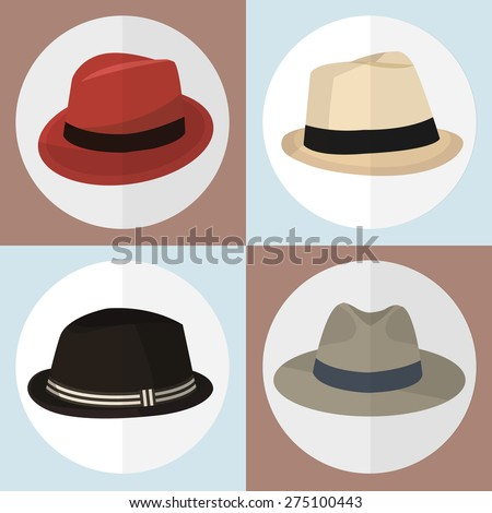 Collection of hat man icon great for any use. Vector EPS10.
