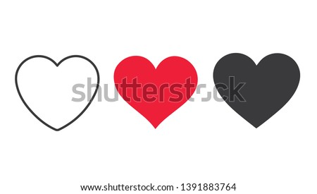 Collection of heart illustrations, Love symbol icon set, love symbol  stock photo