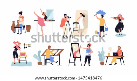 Collection of hobby and profession. Illustration of a hobby and activity of the person vector illustration