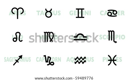 Zodiac Signs Silhouettes Download Free Vector Art Stock Graphics