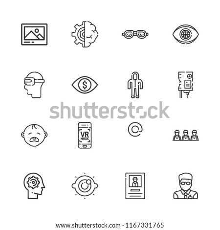 collection of 16 human outline