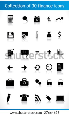 Collection of icons for your business website. Business, finance.