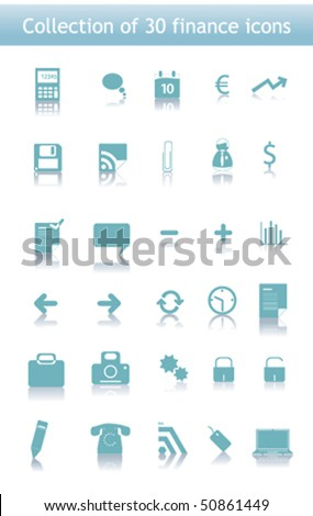 Collection of icons for your business website. Business, finance. Vector.