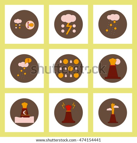collection of icons in flat