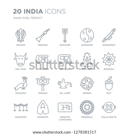 collection of 20 india linear