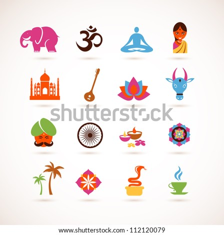 collection of  India vector icons