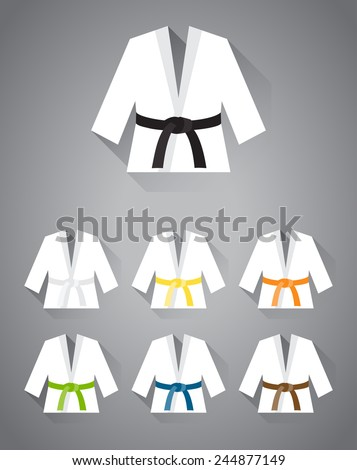 collection of judo  karate or