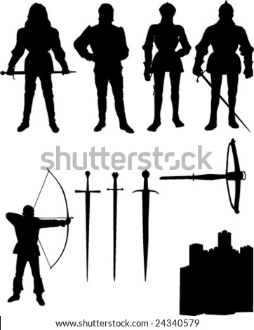 collection of knight   vector