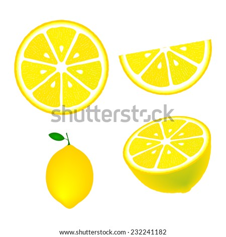 collection of lemons  isolated