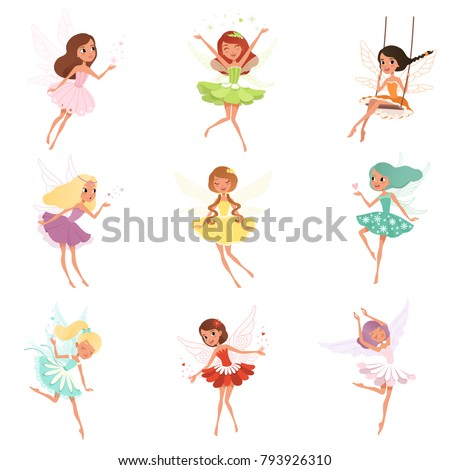 collection of little fairies