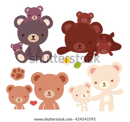 collection of lovely bear