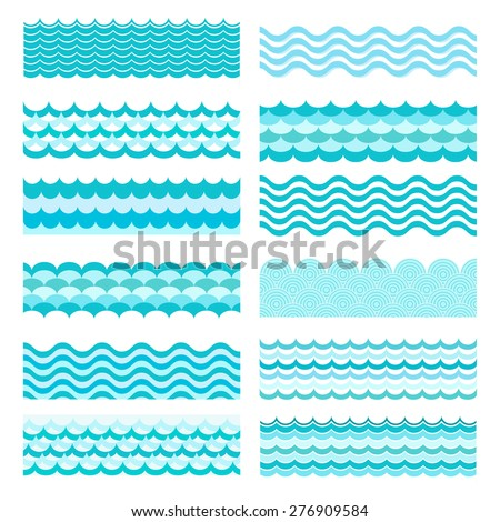 collection of marine waves sea