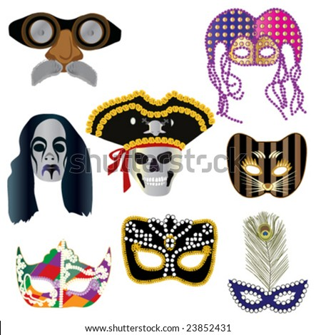 Collection of masks for designers