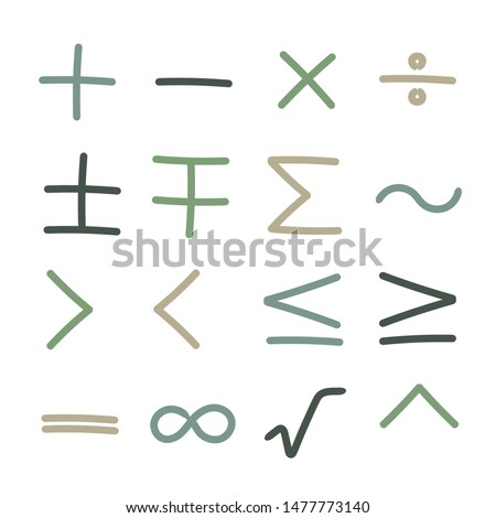collection of mathematical signs   #1477773140