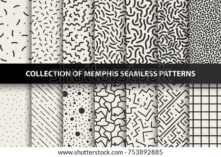 collection of memphis seamless