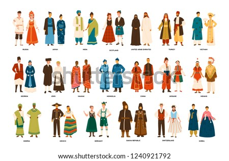 collection of men and women