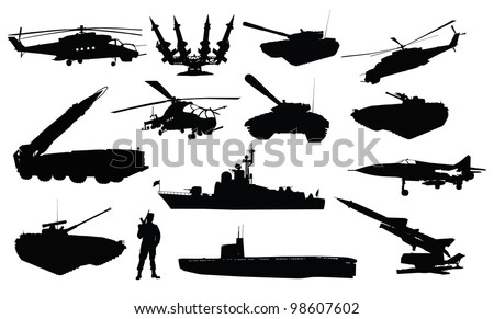 collection of 14  military