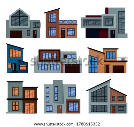 collection of modern houses