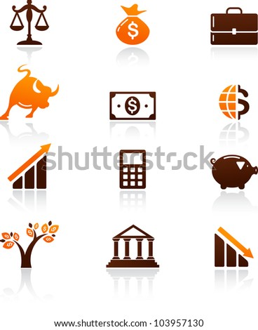 collection of money and finance icons