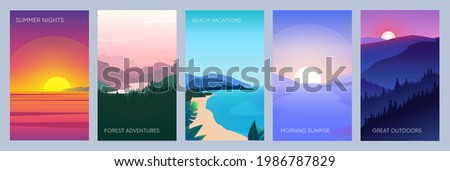 collection of mountain  river
