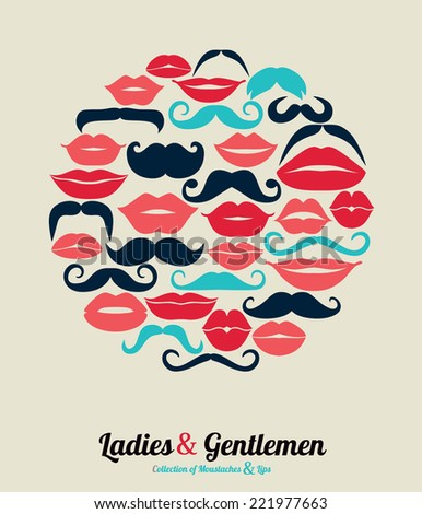 collection of moustaches and