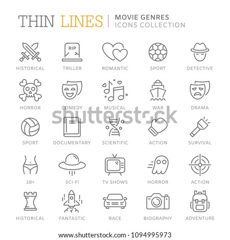 collection of movie genres thin