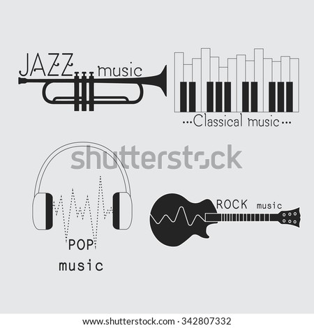 collection of music logos made