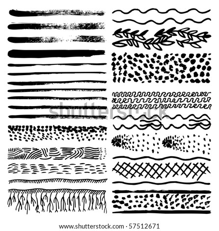 Collection of natural impressionism brush patterns