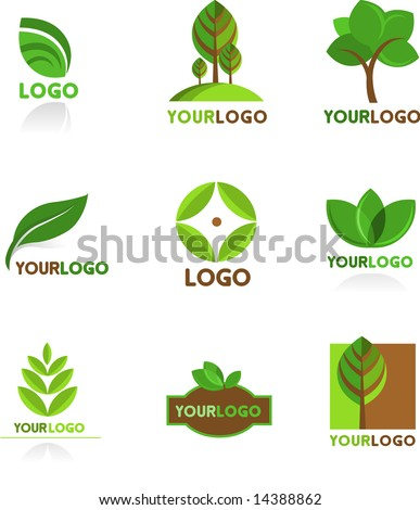 Nature Picture on Collection Of Nature Logos And Icons Stock Vector 14388862