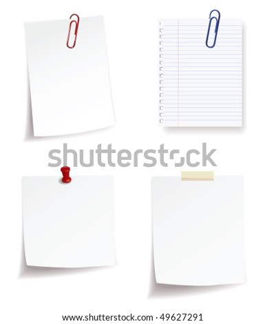 collection of note paper