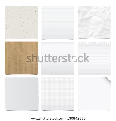 Collection of note papers background Illustration