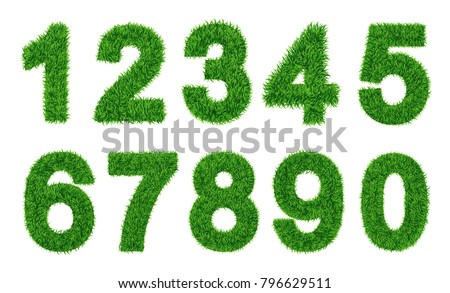 collection of  numbers  green