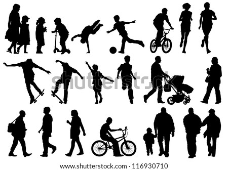 Collection of Outdoors and Active People