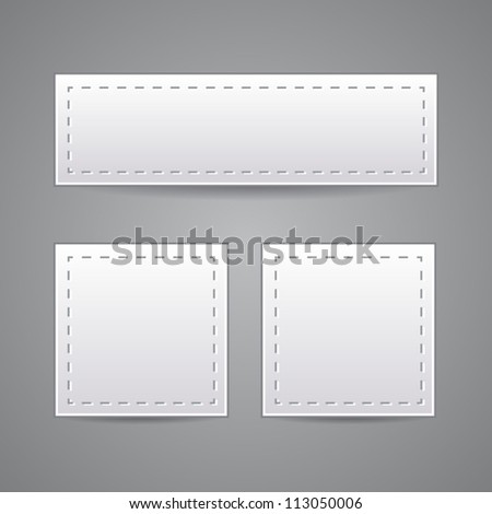 Collection of paper. Vector