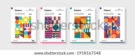 Collection of pattern templates. Geometry orientation vector business presentation set mock up pattern. company branding pattern covers design layout bundle, poster, geometric concept cover.