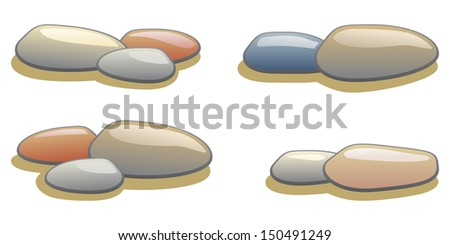 collection of pebble