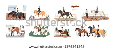 collection of people riding