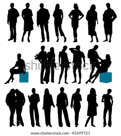Collection of people. This image is a vector illustration and can be scaled to any size without loss of resolution