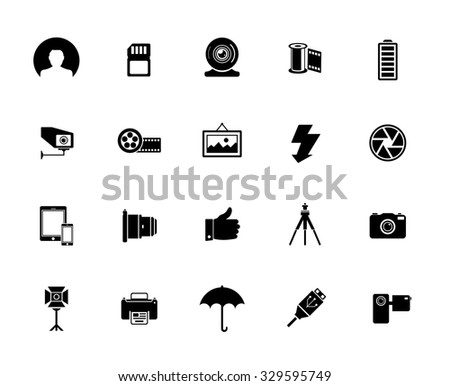 collection of photography icons