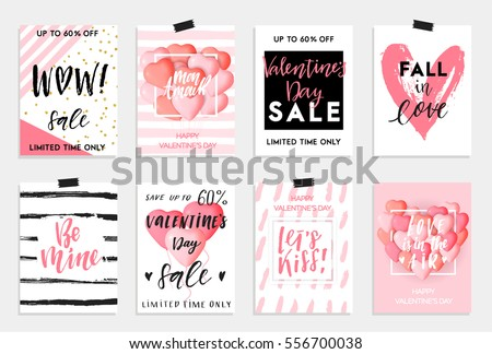 Valentines Day Elements Set Vector Download Free Vector Art Stock