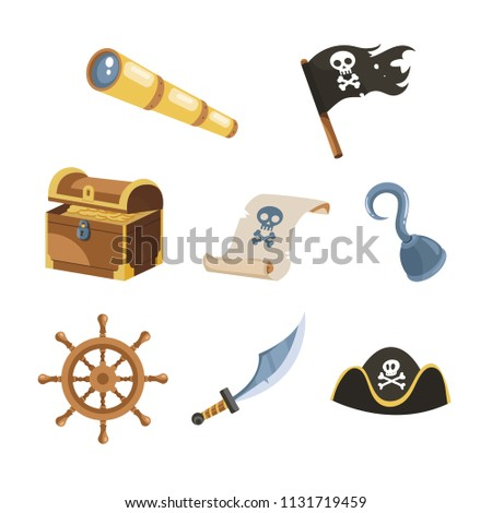 Collection Of Pirate Icons Vector Download Free Vector Art Stock